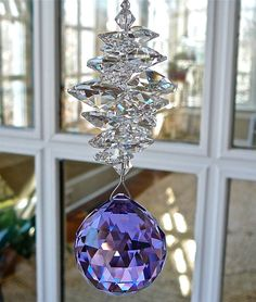 Swarovski Crystal Ball Suncatcher Window by HeartstringsByMorgan
