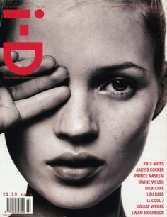 Kate Moss and the occult all-seeing eye. By David Sims for i-D magazine - The Survival Issue, February 1996 / face Kate Moss, Id Cover, Cover Girl, Drum Cover, Mode Lookbook, Id Magazine, Magazine Covers, Portrait Photography, Fashion Photography
