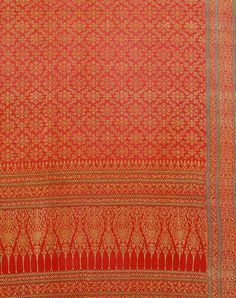 "Ceremonial cloth, woven silk and gold-wrapped thread, Ahmedabad for the Thai market, 19th century. © Victoria and Albert Museum.  On view in ""The Fabric of India,"" at Victoria and Albert Museum, London, October 3, 2015 - January 10, 2016."