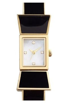 kate spade new york Women's 1YRU0283 CARLYLE Analog Display Japanese Quartz Black Watch