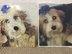 Custom pet portrait mosaic - Havanese Mosaic Ideas, Havanese, Pet Portraits, Pets, Unique Jewelry, Handmade Gifts, Animals, Vintage, Animals And Pets