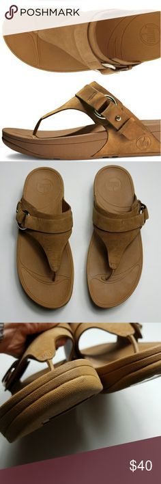f855d081afdf FITFLOP tan Via thong sandals Via flip flop sandal with tan leather strap  and silver hardware. In EUC