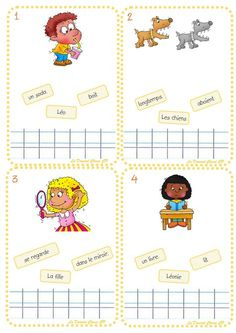 Bulk Phrases - The CP Class Domrod, Education Learning To Write, Learning Activities, Kids Learning, Read In French, French Kids, French Teacher, Teaching French, French Worksheets, French Classroom