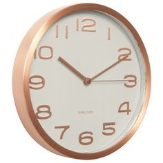 Karlsson+Maxie+Copper+Clock+-+White+-+Add+a+designer+element+to+your+wall+with+the+Karlsson+Maxie+Copper+Clock+-+White…