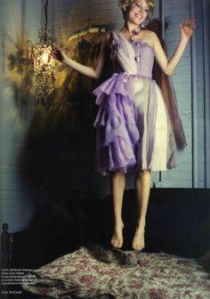 Michelle Williams wearing Rodarte SS08 in British Vogue (styled...