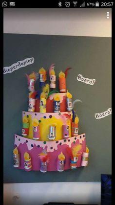 Verjaardagskalender. Elke leerling is een kaarsje