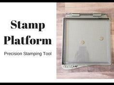 Tim Holtz Stamp Platform - YouTube Card Tutorials, Video Tutorials, Handy Tips, Helpful Hints, Tim Holtz Stamping Platform, Crafting Tools, Craft Cards, Stamping Tools, Card Making Techniques