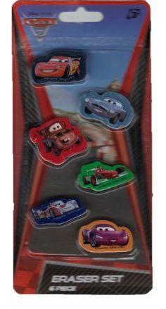 Amazon.com: Cars 2 6 Piece Eraser Set: Toys & Games $2.99