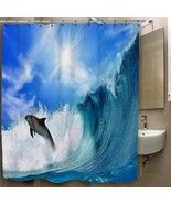 Dolphin Jumping in the Waves Custom Print On Po... - $35.00 - $41.00