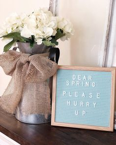 Happy first day of FEBRUARY ❤️ There is a new post up on the blog today with a fun Valentines Day Gift Guide for the man in your life! (Link in bio) This chilly and gloomy weather has me wishing for a sunny spring day! Is anyone else impatiently waiting for spring?! Also I finally got a letter board and I'm loving it! Thanks @feltletterboards! . . . . #letterboard #springhurryup #wishingforwarmweather #farmhousedecor #milkcan #mypopsofblue