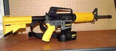 New Dewalt Nail Gun! It can drive a 16-D nail through a 2x4 at 200 yards. lol