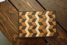 Brass crafted endgrain wood kitchen cuttingboard. SOLD www.brasscrafted.com woodworking woodworker woodwork handmade 3d design art