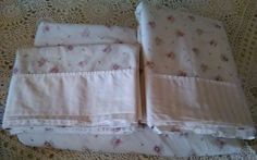 Simply Shabby Chic Treasures Pink Roses Queen Size Bed Sheet Set #SimplyShabbyChicTreasures #shabbychicfrenchcountry