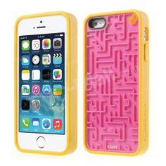PureGear Amazing #Maze Retro Game TPU & PC Hybrid Cover for #iPhone5s 5 - Rose / Yellow
