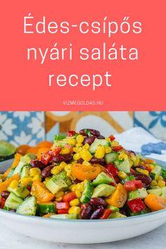 Egészséges recept - édes csipő nyári saláta. Kattints a képre a receptért! Cooking Recipes, Healthy Recipes, Kung Pao Chicken, Sprouts, Vegetables, Ethnic Recipes, Foods, Drinks, Food Food