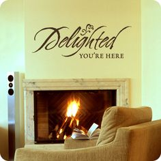 From $17.95, Delighted You're Here (Brush Drawn)