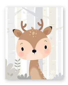 Set of 6 Woodland Nursery wall art - Forest animals Baby Wall Art, Art Wall Kids, Nursery Wall Art, Art Blanc, Art Carte, Alphabet Print, Woodland Nursery Decor, Forest Nursery, Rainbow Art