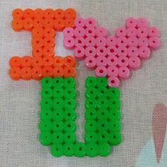 I Love You perler beads by elegant_garden