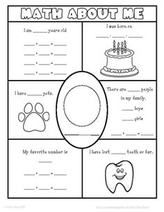 474 Best Math About Me Images On Pinterest Math Centers Preschool