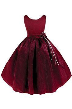 AMJ Dresses Inc Little Girls' Communion Flower Girl Pageant Dress Red Flower Girl Dresses, Girls Pageant Dresses, Little Girl Dresses, Dress Prom, Wedding Dress, New Party Dress, Girls Party Dress, Baby Boutique Clothing, Special Occasion Dresses