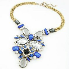 NEW statement Necklace Color:Blue Fashion Jewelry Jewelry Necklaces