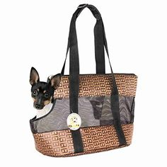 Travel Pet Carrier Purse By ANGEL DOGGY Small Dog  Cat Polyester Travel Tote Comfortable Soft Sided Airline Approved Shoulder Handbag For Puppy  Kitten Go Shopping Hiking Walking With Doggy -- Want additional info? Click on the image.