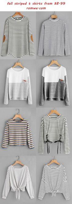 striped t shirts - romwe.com