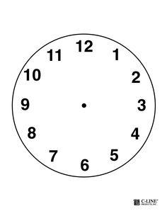 Clock Face Template Pdf