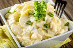 11 olcsó és laktató krumplisaláta | Mindmegette.hu Risotto, Mashed Potatoes, Macaroni And Cheese, Buffet, Food And Drink, Cooking, Ethnic Recipes, Anna, Cocktail