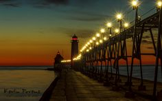 Grand Haven Pier Sunset by Kevin  Povenz on 500px