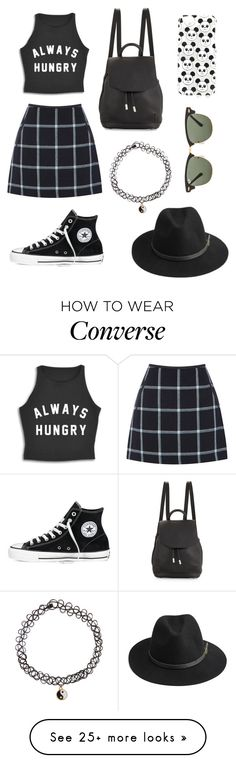 """""""Untitled #34"""" by sabina11yurikov on Polyvore featuring Oasis, Converse, rag & bone, Accessorize, BeckSöndergaard, Topshop and Ray-Ban"""