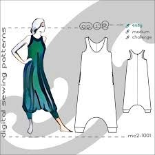 Image result for harem jumpsuit pattern