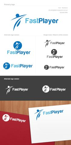 Logo template that can be used in shops and sportswear, in gyms, sports clubs, and sporting goods brand, among other similar uses. • Available here → http://graphicriver.net/item/fast-player-logo/910044?s_rank=510&ref=pxcr
