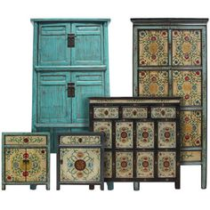 Hand painted Chinese Cabinets