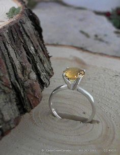 Golden Topaz 925 Sterling Silver Ring          by CedarCreekCanada