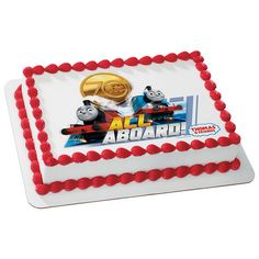 Baking Accs. & Cake Decorating Delicious Train All Aboard Edible Round Cake Topper Decoration