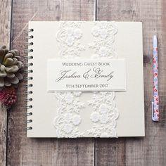 Livre dor mariage dentelle Vintage à la main Scrapbook