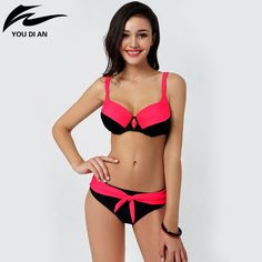 17.99$  Buy now - http://ali3nw.shopchina.info/go.php?t=32614269893 - Hot Design swimwear Retro Style bathing suit Brazilian Sexy Printing Swimsuit Bikinis Padded Biquinis bikini set 2016 Swimwear 17.99$ #buymethat