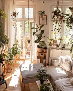 """Home Deco on Instagram: """"Plant stands elevate plants, and hangers lower them. Together, it's a great combo ↠ Follow us @homedeco for more plant decor ideas ↠ ↠…"""" Zen Home Decor, Home Decor Bedroom, Style Deco, Dream Apartment, Aesthetic Bedroom, My New Room, Home Decor Inspiration, Decor Ideas, Living Spaces"""