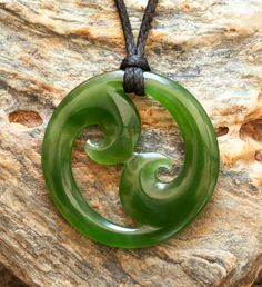 Jade Double Wave Koru