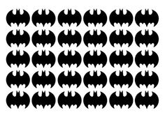 Batman inspired stickers up to 1 1/2 inches by Sisterdoodles
