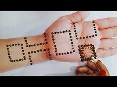एकदम झट्से और आसान मेहंदी लगाना सीखे | गोलटिक्की और इयरबड्स से मेहंदी लगाए | Easy Mehndi Design - YouTube Very Simple Mehndi Designs, Pretty Henna Designs, Rose Mehndi Designs, Henna Tattoo Designs Arm, Indian Mehndi Designs, Full Hand Mehndi Designs, Mehndi Designs For Beginners, Modern Mehndi Designs, Mehndi Design Photos