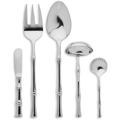 Bamboo 5-Piece Hostess Set (€90) ❤ liked on Polyvore featuring home, kitchen & dining, flatware, no color, bamboo utensils, serving utensils, 5 piece hostess set, serving flatware and bamboo silverware