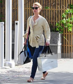 Claire Danes is seen in Soho on May 13, 2014 in New York City.