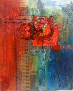 Mixed media collage art on canvas by Chris Francisco