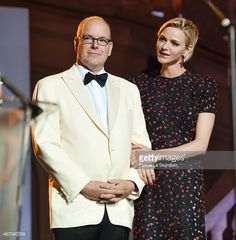 His Serene Highness Prince Albert II of Monaco and Her Serene Highness Princess Charlene of Monaco attend the 2015 Princess Grace Awards Gala With Presenting Sponsor Christian Dior Couture at Monaco...