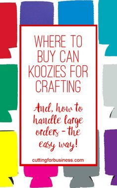 Where to Buy Can Koozies for Crafting (Silhouette Cameo and Cricut)… Vinyl Crafts, Vinyl Projects, Circuit Projects, Sewing Projects, Silhouette Cameo Projects, Silhouette Design, Silhouette Studio, Cricut Tutorials, Cricut Ideas