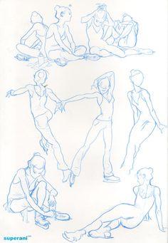 thewayilikecomix:  Kim Jung Gi, skater figure.