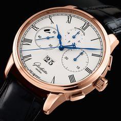 Glashütte Original Senator Chronograph Panorama Date The art of the chronograph (See more at En/Fr/Es: http://watchmobile7.com/articles/glashutte-original-senator-chronograph-panorama-date) #watches #montres #relojes #glashuetteoriginal