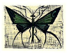 Bernard BUFFET : Papillon vert, 1967